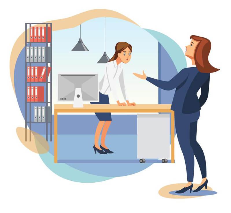 Female Boss Scolding Office Worker
