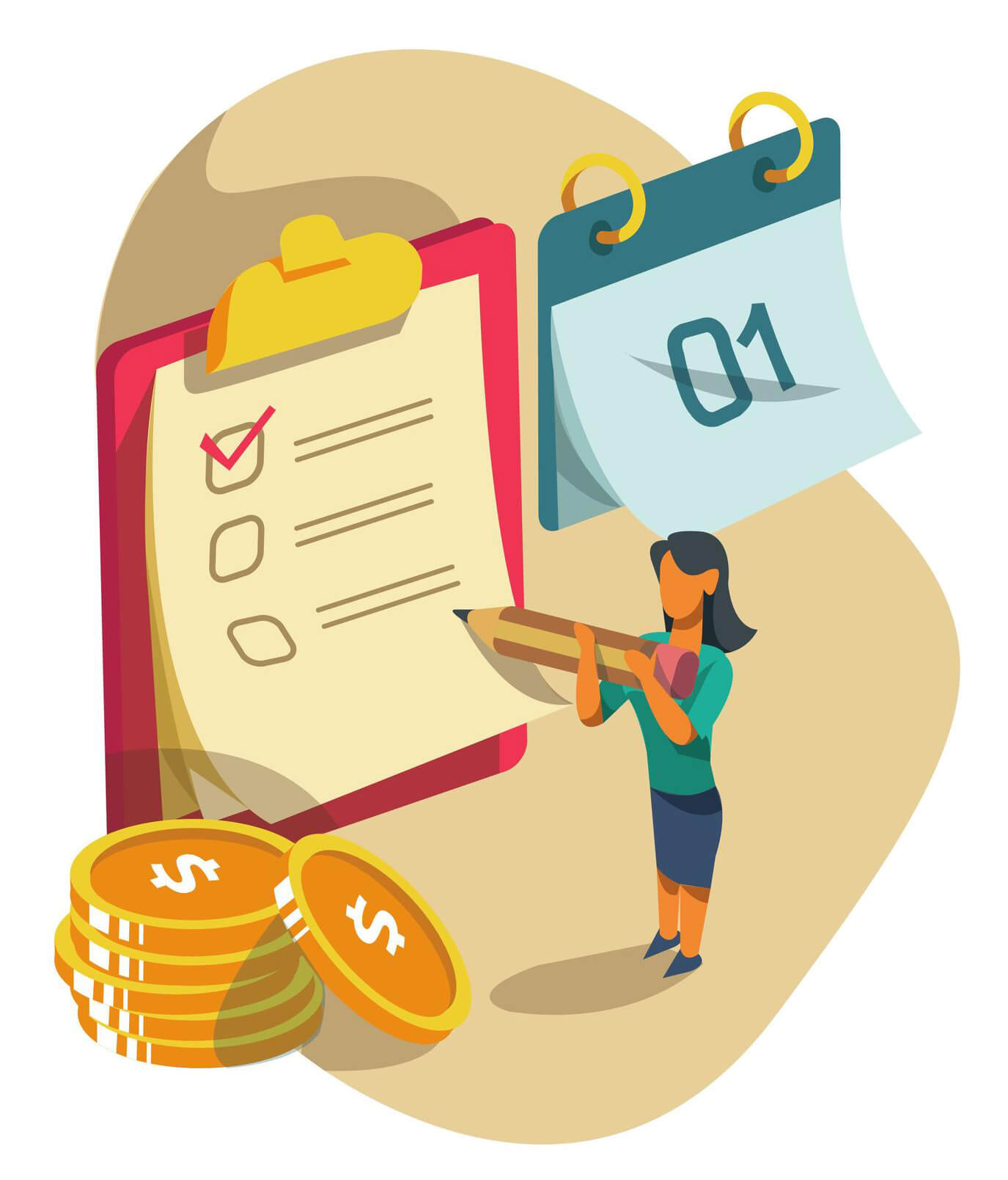 Salary Payment And Payroll Concept Vector