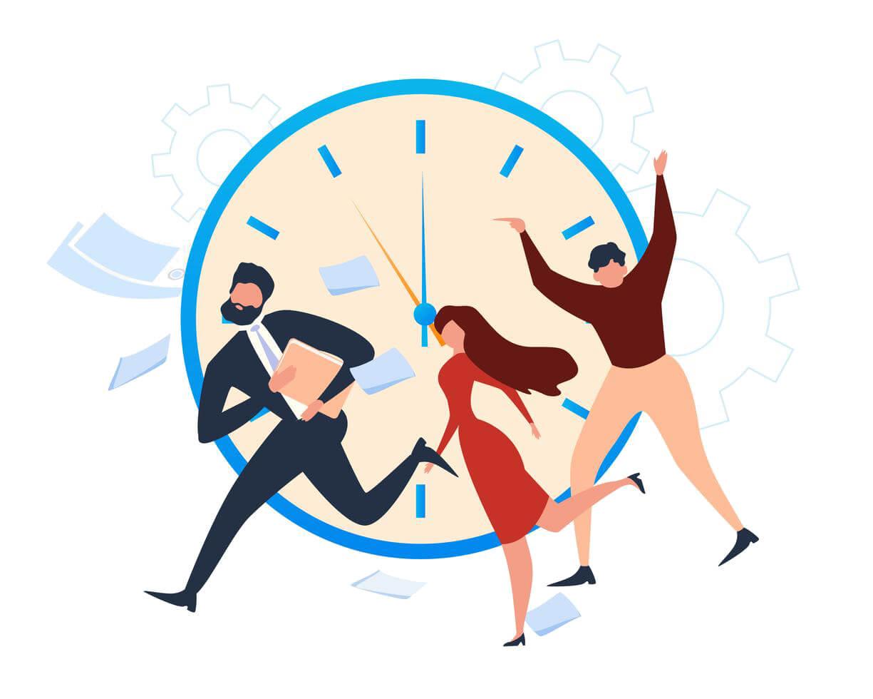 vector-people-office-worker-run-deadline-alarm
